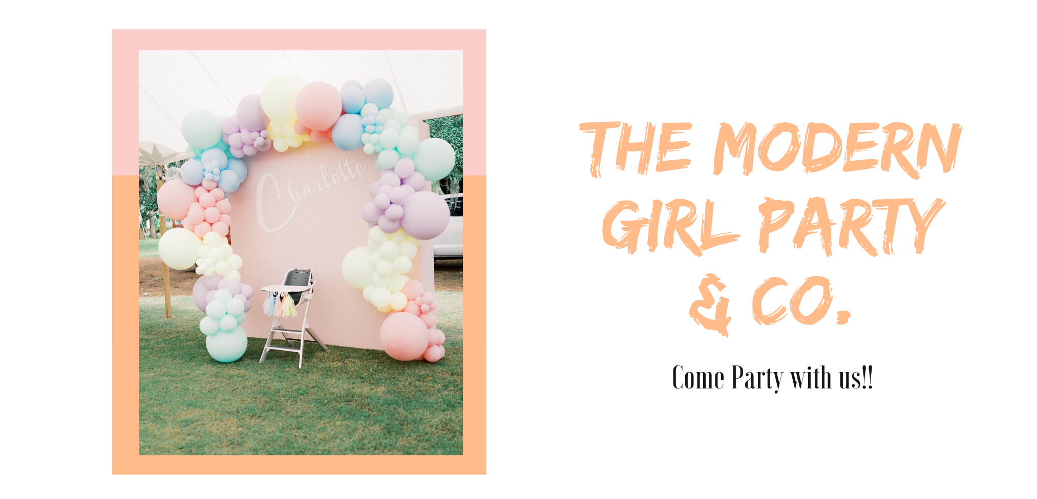 Birthday Balloon Wall by The modern Girl Party & Co. Come Party With Us!